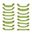 Green ribbon banners blank vector image vector image