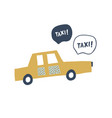 hand drawn new york taxi kids vector image vector image