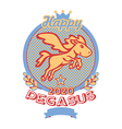 Happy pegasus print vector image