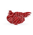 hen with chicken vector image vector image