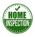 home inspection grunge rubber stamp vector image vector image