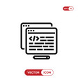 html icon vector image vector image
