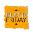 isolated retro black friday label vector image
