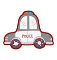 line color emergency police car transport with vector image