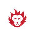 lion fire flame logo vector image