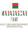 Madagascar Flag Font vector image vector image