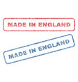 made in england textile stamps vector image