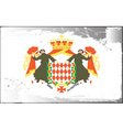Monaco national flag vector image vector image