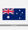 national flag australia australian country flag vector image