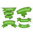 natural food eco organic product vector image vector image