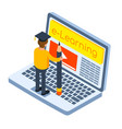 online education concept isometric vector image