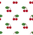 pair of cherries seamless pattern on white vector image