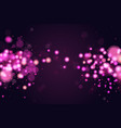 pink and blue magic bokeh sparkle glitter lights vector image vector image