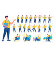 presentation in various poses and actions vector image vector image