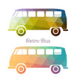 retro multicolor bus vector image