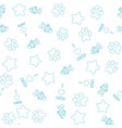 seamless pattern with pet elements vector image vector image