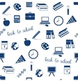 seamless school icons pattern vector image vector image