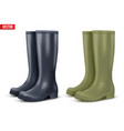 set of work rain boots vector image