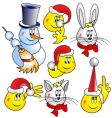 snowman cat hare rabbit vector image