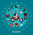 speed racer round design vector image vector image