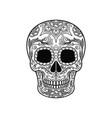 sugar skull with floral pattern dia de muertos vector image vector image