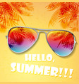 summer hot background vector image vector image