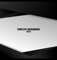 template black and white geometric background vector image