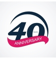 Template Logo 40 Anniversary vector image