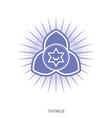 thymus chakra yoga ayurveda reiki vector image vector image