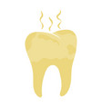 unhealthy tooth yellow rotten teeth vector image vector image