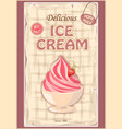 Vintage background with home made ice cream