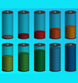 volumetric color indicator of the battery vector image vector image