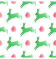 watercolor easter pattern with rabbits vector image vector image