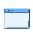 web window line icon vector image