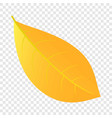 yellow leaf icon flat style vector image vector image