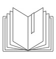 dictionary icon outline style vector image