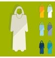 Flat design muslim vector image
