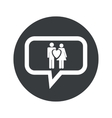 Round love couple dialog icon vector image