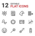 12 new icons vector image vector image
