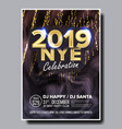 2019 party flyer poster happy new year vector image vector image