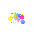 abstract geometric shapes liquid gradient banners vector image