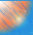 abstract shooting star on morning blue sky vector image vector image