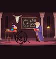 alchemy cartoon vector image vector image
