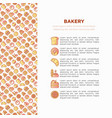 Bakery concept with thin line icons