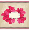 Beautiful floral patternSpring background vector image vector image