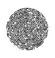 black abstract concentric circle vector image vector image