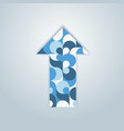 blue patterned colorful arrow vector image