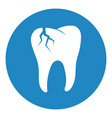 broken tooth icon vector image vector image