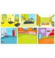 Cartoon set of backgrounds - sport infrastructure vector image vector image