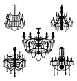 chandelier set vector image